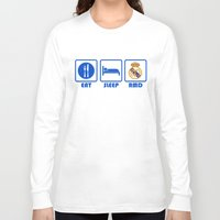real madrid Long Sleeve T-shirts featuring Eat Sleep Real Madrid by Sport_Designs