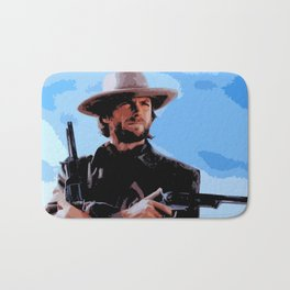 Clint Eastwood Man With No Name Cowboy Illustration Movie Pop Art Home Decor Western Poster Film Bath Mat