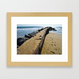 Beach Wandering  Framed Art Print