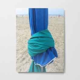 Parasols in Deauville, France (2008b) Metal Print
