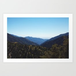 Blue Sky over Mountains in California Art Print
