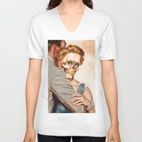 ginger V-neck T-shirts featuring GINGER by Julia Lillard Art