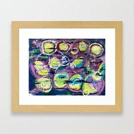 Lime Pods Framed Art Print