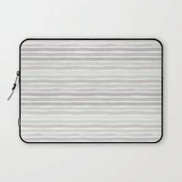 Watercolor Stripes Hues of Grey by Friztin Laptop Sleeve