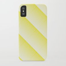 Half Tone Yellow Dots Print iPhone X Slim Case