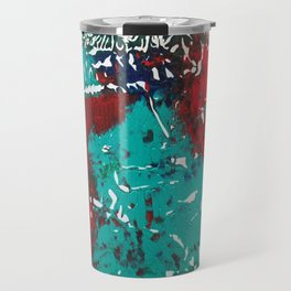 Abstracted Wolf and Kitten Travel Mug