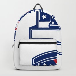 Forestry Cutter USA Flag Badge Backpack