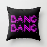 minaj Throw Pillows featuring BANG BANG by Joe Alexander