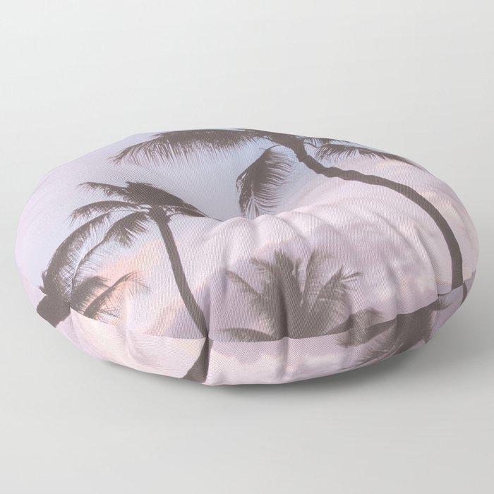 Pastel Palm Trees Floor Pillow