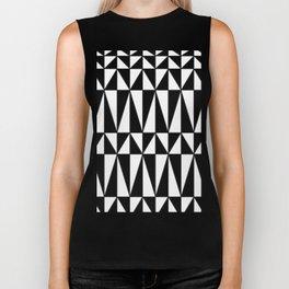 Black And White Triangles Biker Tank