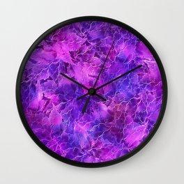 Frozen Leaves 26 Wall Clock