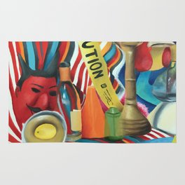 Colorful Still Life Rug
