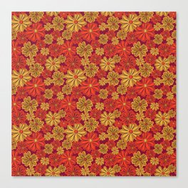Mexican Sunflower Print Canvas Print