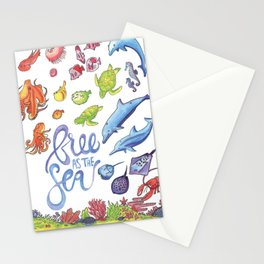 Free as the Sea Stationery Cards