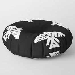 Thunderbird flag - Inverse edition version Floor Pillow