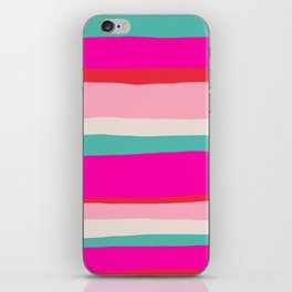 Candy Stripe Christmas iPhone Skin