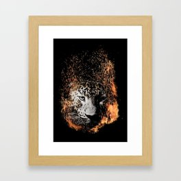 Leopard Blaze Framed Art Print