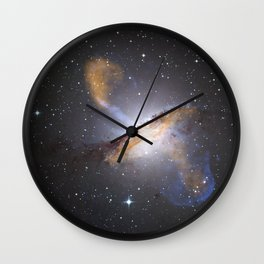 Nebula and Stars in Space Wall Clock