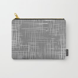 Crosshatch Gray Carry-All Pouch