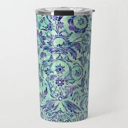 Watercolor Damask Pattern 06 Travel Mug