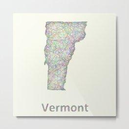 Vermont map Metal Print