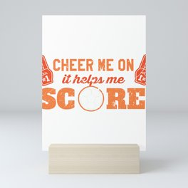 Soccer Player Cheer Me On to Score Mini Art Print
