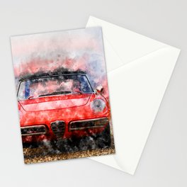 1968 Alfa Spider 1300 Duetto Stationery Cards