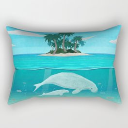 Manatee Island Rectangular Pillow