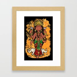 Goddess Lakshmi Framed Art Print
