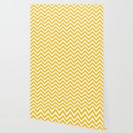 Amber Yellow Chevrons Pattern Wallpaper