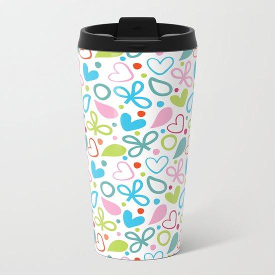 Colorful Lovely Pattern XII Metal Travel Mug