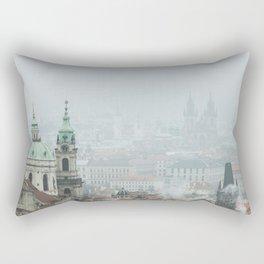 Cold Mornings over Prague Rectangular Pillow