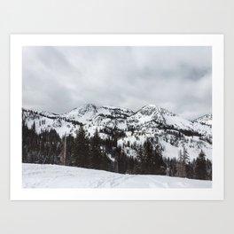 Brighton Ski Resort Art Print
