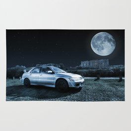 Evo 7 at the Castle Rug