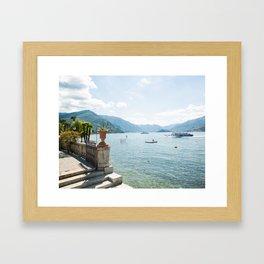 Lake Como with Steps Framed Art Print