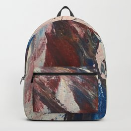 red white and blue3 Backpack