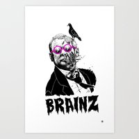 political Art Prints featuring political zombie theme by Krzysztof Kaluszka