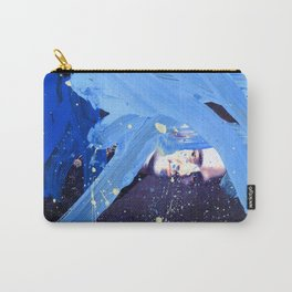 Blue Explosion Carry-All Pouch