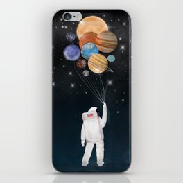 balloon universe iPhone Skin