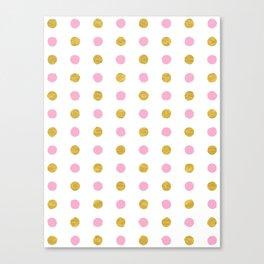 Dalmatian - Pink & Gold Foil #230 Canvas Print