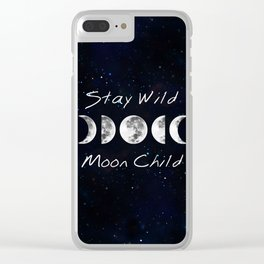 Stay Wild Moon Child Clear iPhone Case