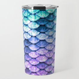 Mermaid Ombre Sparkle Teal Blue Purple Travel Mug