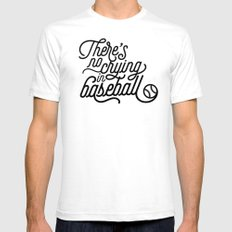 There's No Crying in Baseball SMALL Mens Fitted Tee White