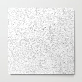 Chu Chu Angel : Pattern Print Metal Print