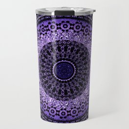 Purple Tapestry Mandala Travel Mug