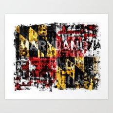 Maryland Flag Print Art Print