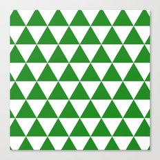 Triangles (Forest Green/White) Canvas Print