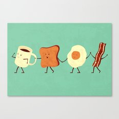Let's All Go And Have Breakfast Canvas Print