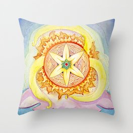 Triskelion sunshine Throw Pillow