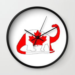 Canada Brontosaurus Wall Clock